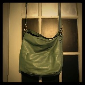 Teal shoulder/crossbody purse